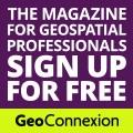 Geo logo purple and green